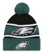 "Philadelphia Eagles New Era Youth NFL ""Junior Callout"" Cuffed Knit Hat with Pom"