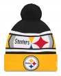 "Pittsburgh Steelers New Era Youth NFL ""Junior Callout"" Cuffed Knit Hat with Pom"