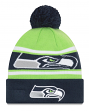 "Seattle Seahawks New Era Youth NFL ""Junior Callout"" Cuffed Knit Hat with Pom"
