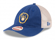 "Milwaukee Brewers New Era MLB 9Twenty Cooperstown ""Frayed Twill 2"" Mesh Back Hat"