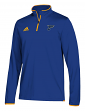 St. Louis Blues Adidas NHL Men's 2018 Authentic Pro 1/4 Zip Wind Shirt