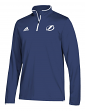 Tampa Bay Lightning Adidas NHL Men's 2018 Authentic Pro 1/4 Zip Wind Shirt