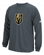 "Las Vegas Golden Knights Adidas NHL ""Primary Position"" Climalite L/S T-Shirt"