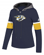 "Nashville Predators Women's NHL Adidas ""Offsides"" Premium Hooded Sweatshirt"