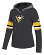 "Pittsburgh Penguins Women's NHL Adidas ""Offsides"" Premium Hooded Sweatshirt"