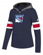 "New York Rangers Women's NHL Adidas ""Offsides"" Premium Hooded Sweatshirt"