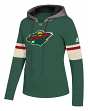 "Minnesota Wild Women's NHL Adidas ""Offsides"" Premium Hooded Sweatshirt"