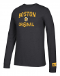 "Boston Bruins NHL Adidas ""True Original"" Long Sleeve Tri-Blend T-Shirt"