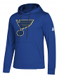 "St. Louis Blues Adidas NHL Men's ""Goalie"" Pullover Hooded Sweatshirt"
