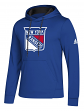 "New York Rangers Adidas NHL Men's ""Goalie"" Pullover Hooded Sweatshirt"