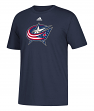 Columbus Blue Jackets Adidas NHL Primary Logo Men's Navy Short Sleeve T-Shirt