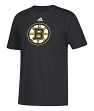 Boston Bruins Adidas NHL Primary Logo Men's Black Short Sleeve T-Shirt