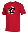 Calgary Flames Adidas NHL Primary Logo Men's Red Short Sleeve T-Shirt