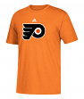 Philadelphia Flyers Adidas NHL Primary Logo Men's Orange Short Sleeve T-Shirt