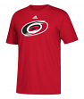 Carolina Hurricanes Adidas NHL Primary Logo Men's Red Short Sleeve T-Shirt