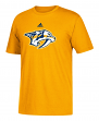 Nashville Predators Adidas NHL Primary Logo Men's Yellow Short Sleeve T-Shirt