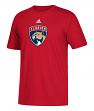 Florida Panthers Adidas NHL Primary Logo Men's Red Short Sleeve T-Shirt