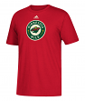 Minnesota Wild Adidas NHL Primary Logo Men's Red Short Sleeve T-Shirt