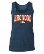 "Denver Broncos Women's New Era NFL ""Downfield"" Racerback Tank Top Shirt"