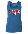 "New York Giants Women's New Era NFL ""Downfield"" Racerback Tank Top Shirt"