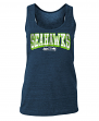 "Seattle Seahawks Women's New Era NFL ""Downfield"" Racerback Tank Top Shirt"