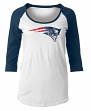 "New England Patriots Women's New Era NFL ""Score"" 3/4 Sleeve Scoop Neck Shirt"