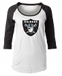 "Oakland Raiders Women's New Era NFL ""Score"" 3/4 Sleeve Scoop Neck Shirt"