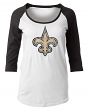 "New Orleans Saints Women's New Era NFL ""Score"" 3/4 Sleeve Scoop Neck Shirt"