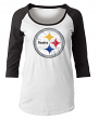 "Pittsburgh Steelers Women's New Era NFL ""Score"" 3/4 Sleeve Scoop Neck Shirt"