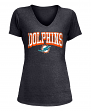 "Miami Dolphins Women's New Era NFL ""Game Over"" Tri-Blend V-Neck Shirt"