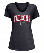 "Atlanta Falcons Women's New Era NFL ""Game Over"" Tri-Blend V-Neck Shirt"