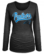 "Carolina Panthers Women's New Era NFL ""Yardage"" Tri-Blend Long Sleeve Shirt"