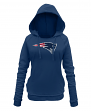 "New England Patriots Women's New Era NFL ""Post Route"" Pullover Hooded Sweatshirt"