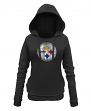 "Pittsburgh Steelers Women's New Era NFL ""Post Route"" Pullover Hooded Sweatshirt"