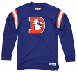 "Denver Broncos Mitchell & Ness NFL Men's ""Team Captain"" Long Sleeve Shirt"