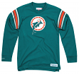 "Miami Dolphins Mitchell & Ness NFL Men's ""Team Captain"" Long Sleeve Shirt"