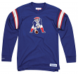 "New England Patriots Mitchell & Ness NFL Men's ""Team Captain"" Long Sleeve Shirt"
