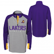 "Los Angeles Lakers Youth NBA ""Shooter"" Performance 1/4 Zip Long Sleeve Shirt"