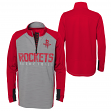 "Houston Rockets Youth NBA ""Shooter"" Performance 1/4 Zip Long Sleeve Shirt"