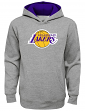 "Los Angeles Lakers Youth NBA ""Prime Time"" Pullover Hooded Sweatshirt - Gray"