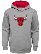 "Chicago Bulls Youth NBA ""Prime Time"" Pullover Hooded Sweatshirt - Gray"