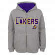 "Los Angeles Lakers Youth NBA ""Foundation"" Full Zip Hooded Sweatshirt - Gray"