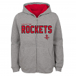 "Houston Rockets Youth NBA ""Foundation"" Full Zip Hooded Sweatshirt - Gray"
