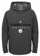 "Pittsburgh Steelers Youth NFL ""Equipment"" Pullover Hooded Charcoal Sweatshirt"