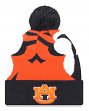"Auburn Tigers New Era NCAA ""Logo Whiz 3"" Cuffed Knit Hat with Pom"