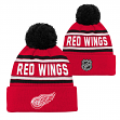 "Detroit Red Wings Youth NHL ""Wordmark"" Cuffed Knit Hat w/ Pom"