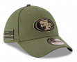 """San Francisco 49ers New Era NFL 39THIRTY 2018 Sideline """"Salute to Service"""" Hat"""