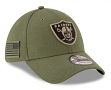 """Oakland Raiders New Era NFL 39THIRTY 2018 Sideline """"Salute to Service"""" Hat"""
