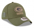 """Green Bay Packers New Era NFL 39THIRTY 2018 Sideline """"Salute to Service"""" Hat"""