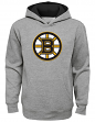 "Boston Bruins Youth NHL ""Prime Logo"" Pullover Hooded Sweatshirt - Gray"